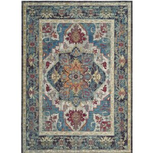 Norwood Blue/Red Area Rug