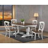 Paradis 5 - Piece Extendable Rubber Solid Wood Dining Set by Rosalind Wheeler