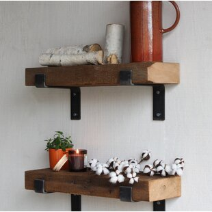 Buckelew Made Chunky Reclaimed Barn Wood Wall Shelf Set Of 2