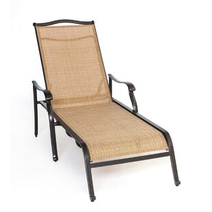 Three Posts Lauritsen Oil Rubbed Bronze Chaise Lounge Chair