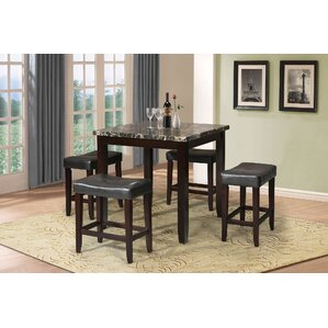 Ainsley 5 Piece Counter Height Dining Set by A&J Homes Studio