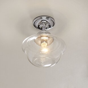 Laurel Foundry Modern Farmhouse Flora 1-Light Semi Flush Mount