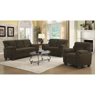 Moorhead 3 Piece Living Room Set by Red Barrel Studio