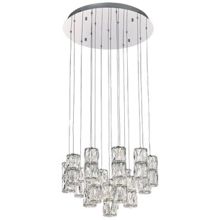 Enola 16-Light LED Cluster Pendant by Everly Quinn