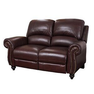 Kahle Leather Reclining Loveseat by Darby Home Co