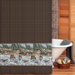 Comparison River Fishing Cotton Shower Curtain By Wildon Home ®
