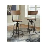 Charlita Swivel Adjustable Height Stool (Set of 2) by Williston Forge