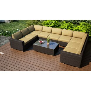Harmonia Living Arden 10 Piece Surround Sectional Set with Cushions