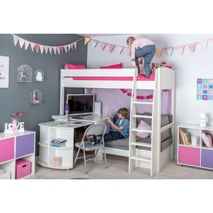 Kool European Single (90 X 200cm) High Sleeper Bed With Desk By Stompa