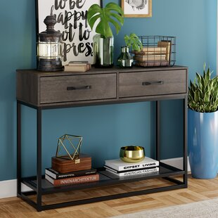 Narrow Entryway Table With Storage For Shoes | Wayfair