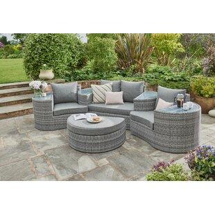 Deltona Garden Daybed with Cushions by Lynton Garden