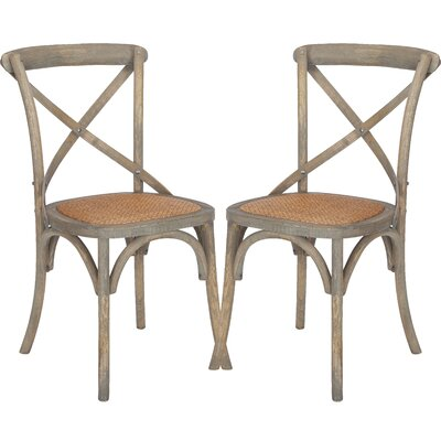 Lark Manor Hyacinthe Dining Chair Colour: Dark Walnut