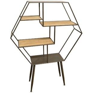 Check Prices Bramblett 64.25 Wood/Metal Shelf in Brown by Corrigan Studio