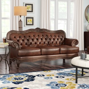 Smith Leather Sofa by Darby Home Co