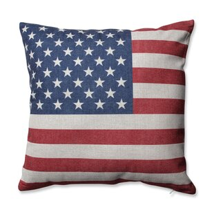 Stars and Stripes Patriot Throw Pillow