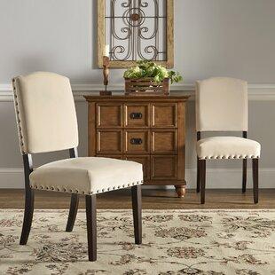 Ali Velvet Nailhead Upholstered Dining Chair (Set of 2)