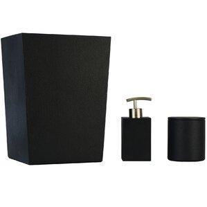 Superb Cara Genuine Leather 3 Piece Mini Bathroom Accessory Set
