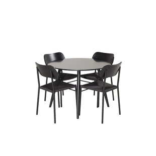 Hales Dining Set With 4 Chairs By Brayden Studio