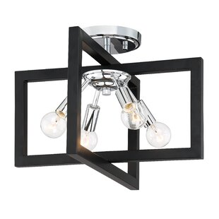 Janiyah 4-Light Semi Flush Mou..