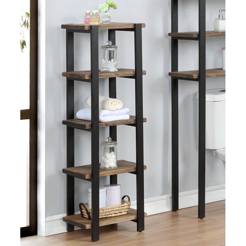 Trent Austin Design Steadman 16 W X 48 H X 12 D Solid Wood Free Standing Bathroom Shelves Reviews Wayfair