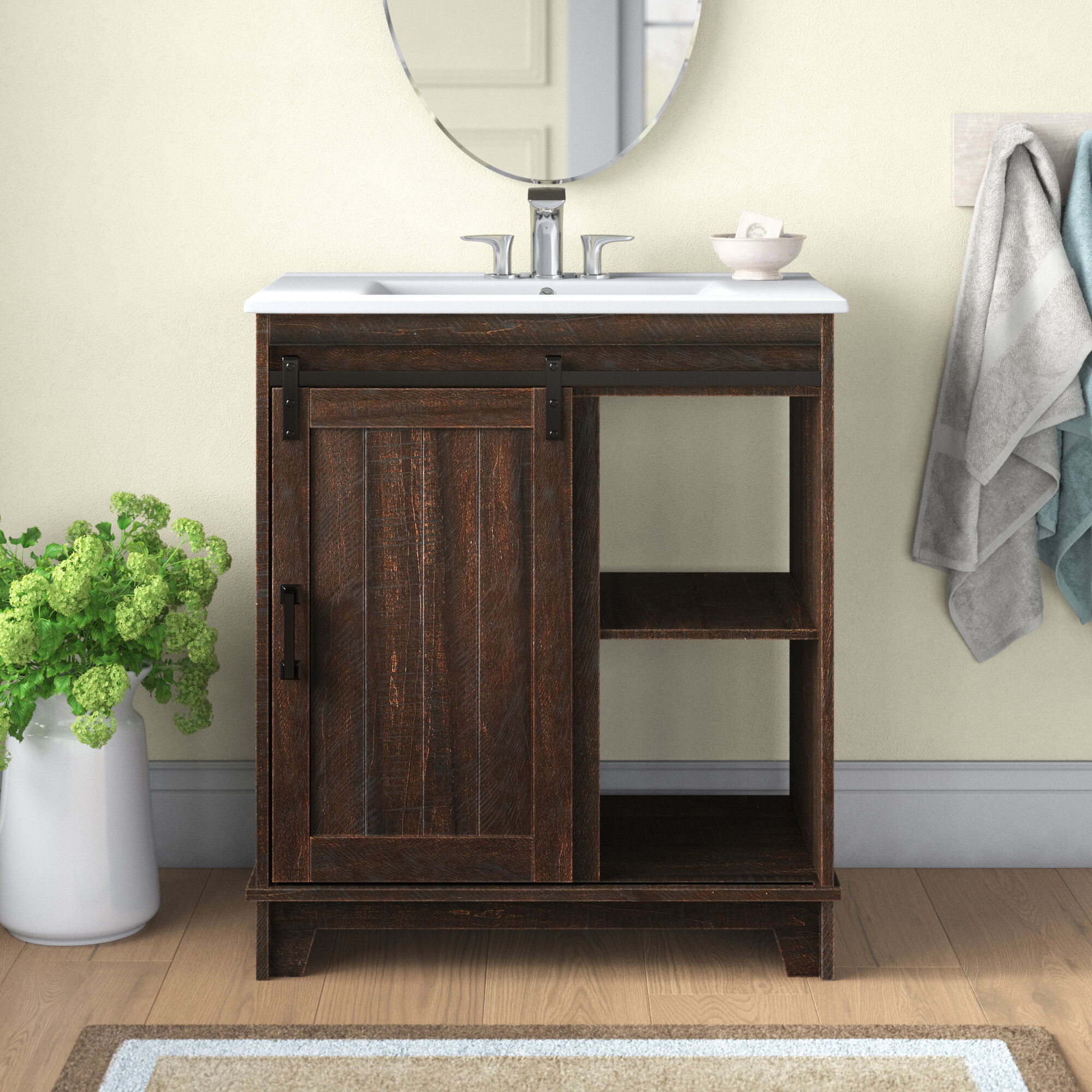 Gracie Oaks Burnette 30 Single Bathroom Vanity Set Reviews Wayfair
