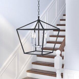 Darby Home Co Beckford 4-Light Foyer/Geometric Chandelier