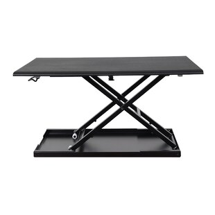 Pneumatic Adjustable Standing Desk Converter by Luxor Fresh