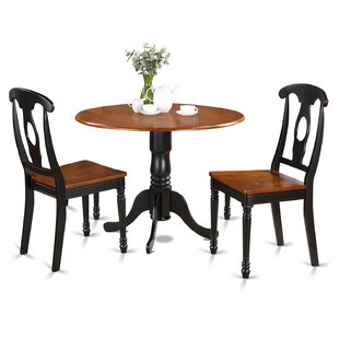Gloucester 3 Piece Drop Leaf Solid Wood Dining Set