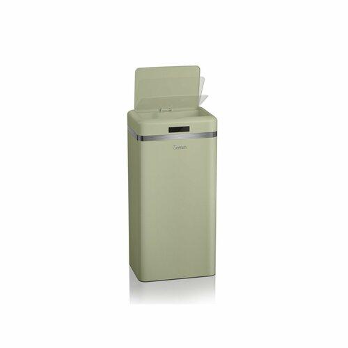 45 L Mülleimer Retro aus Metall | Küche und Esszimmer > Küchen-Zubehör > Mülleimer | Grün | Swan