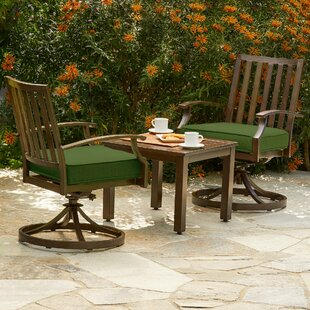Darby Home Co Yandel Bridgeport 3 Piece Bistro Set with Cushions
