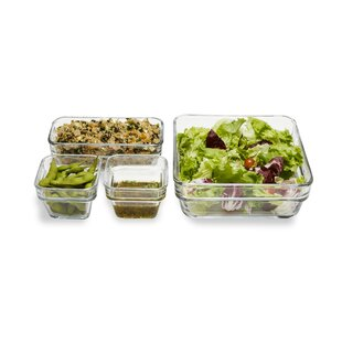 Stack It Stackable 4 Container Food Storage Set by Libbey