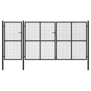 Ackryod Garden 13' X 7' (4m X 2.25m) Metal Gate By Sol 72 Outdoor