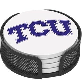 5 Piece Texas Christian University Collegiate Coaster Gift Set By Thirstystone