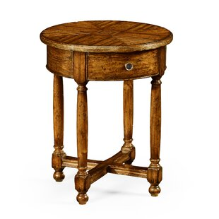 Parquet Round End Table by Jonathan Charles Fine Furniture
