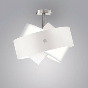 ZANEEN design Tourbillon 1-Light Semi Flush Mount