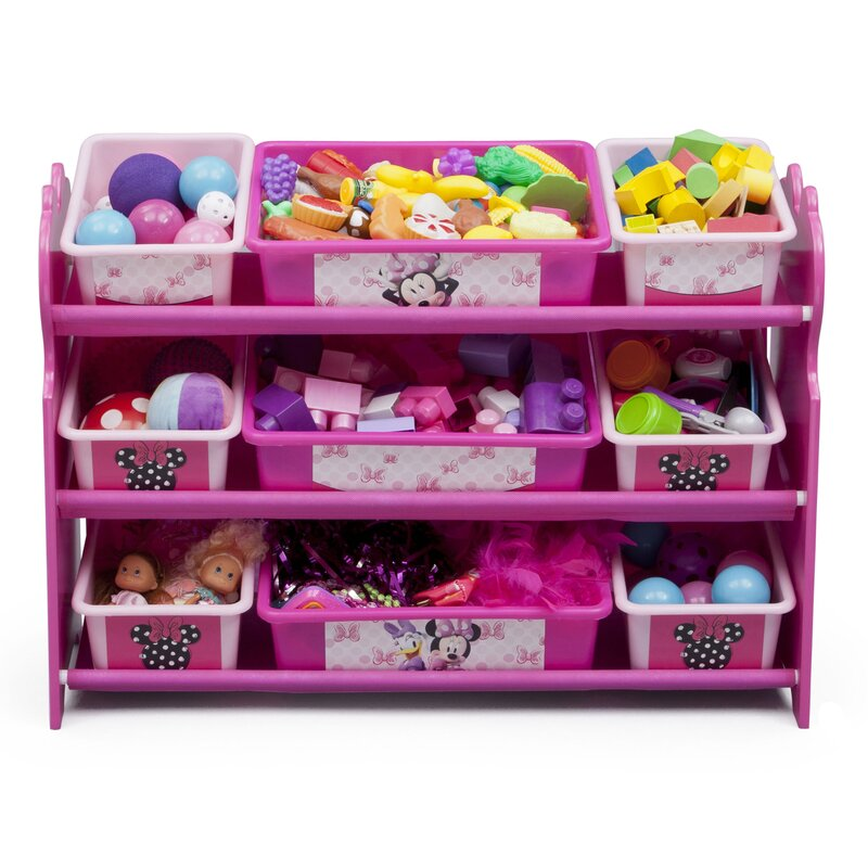 Genial Minnie Mouse 10 Piece Toy Organizer Set
