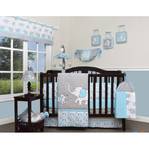 Geenny Blizzard Elephant 13 Piece Crib Bedding Set & Reviews