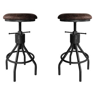 Verdell Backless Adjustable Height Swivel  Bar Stool - set of 2 (Set of 2) by 17 Stories