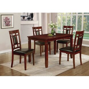 Patrick 5 Piece Solid Wood Dining Set DarHome Co