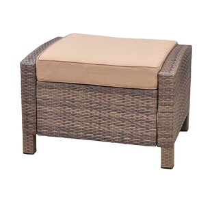 Brayden Studio Katzer Ottoman with Cushion