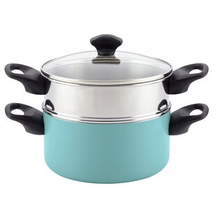 3 qt. Dishwasher Safe Non-Stick Aluminum Stack 'N' Steam Multi-Pot with Lid