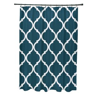 French Quarter Geometric Print Single Shower Curtain