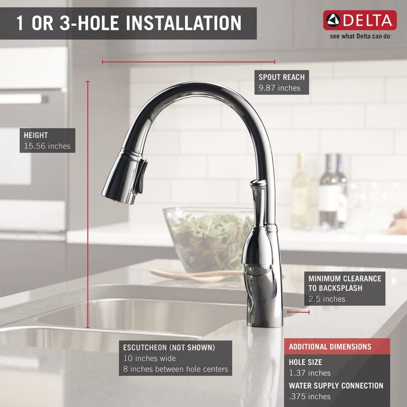 Allora Pull Down Touch Single Handle Kitchen Faucet With Magnae Docking And Diamond Seal Technology