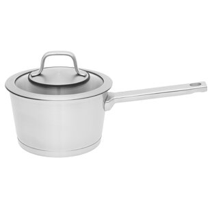 Manhattan Covered 1.8 qt. Stainless Steel Sauce Pan with Lid