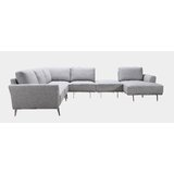 Tadcaster Right Hand Facing Modular Sectional with Otoman by Orren Ellis