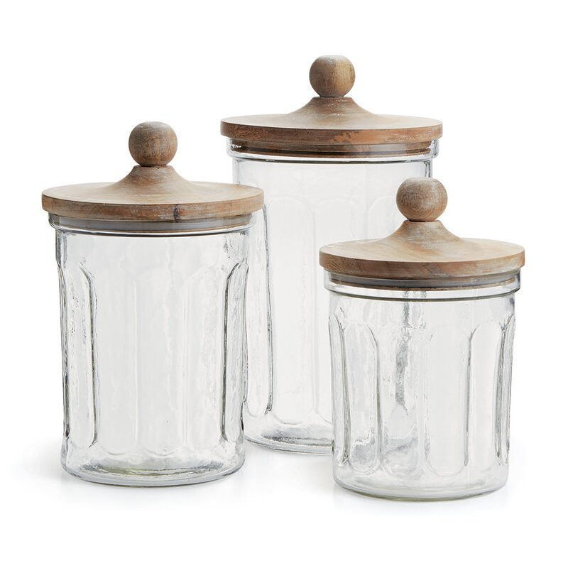 Portland Canisters Set Of 3: Gracie Oaks 3 Piece Kitchen Canister Set & Reviews