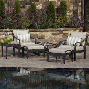 Darby Home Co Portsmouth 5 Piece 2 Person Seating Group with Cushions