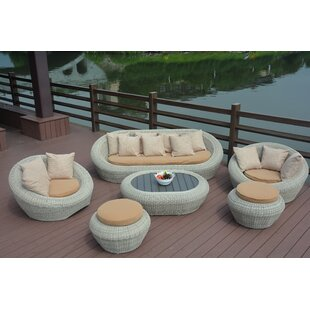 Bungalow Rose Golden 6 Piece Sofa Set With Cushions