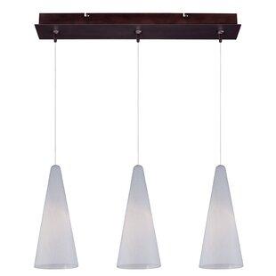 Echo Modern 3-Light Pendant By Orren Ellis