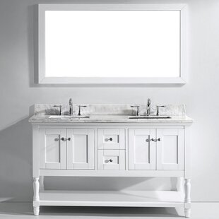 Cicely 59 Double Bathroom Vanity Set with Mirror by Gracie Oaks